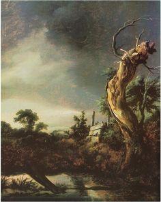Jacob van Ruisdael, Landscape during a Storm, 1649 Oil on Canvas