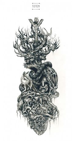 Brilliant Intricate Drawings of DZO Olivier is part of Small Flower tattoos Articles - Showcase of brilliant intricate drawings of DZO Olivier He is a France based graphic designer, a selftaught painter and illustrator who is graduated Tattoo Drawings, Body Art Tattoos, Sleeve Tattoos, Art Drawings, Norse Tattoo, Viking Tattoos, Slavic Tattoo, Model Tattoo, Dark Tree