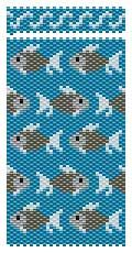 Free Flurry of Fish Long Needlecase Beading Pattern at Sova-Enterprises.com