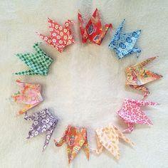 "1000 6"" Multi Pattern Washi Chiyogami Origami Cranes (Senbazuru)"