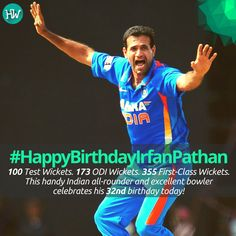 #HappyBirthdayIrfanPathan, one of India's best bowlers! #INDvNZ #IND #cricket