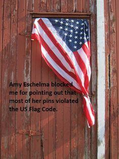 american flag code