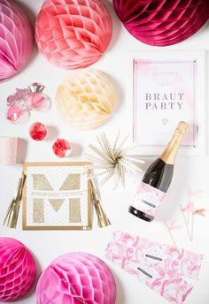 """Ich bin eine """"Pink Flamingo Braut Party""""-Box"""
