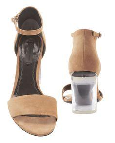 Abby Lucite Heel Clay Sandals, BEIGE/KHAKI, hi-res