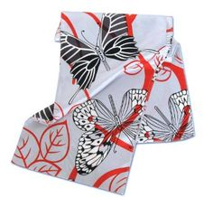 Amazon.com: Graphic Butterfly Silk Scarf by Belisi: Clothing