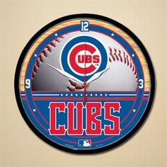 Chicago Cubs Baseball Wall Clock