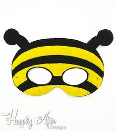 Stitch out an entire insect costume set with this unique ITH Insects mask digital machine embroidery pack of designs! This pack includes different machine embroidery designs - each fitting both a & hoop! Insects design sizes: Bee design sizes: - x - x Embroidery Transfers, Machine Embroidery Designs, Embroidery Patterns, Bee Activities, Printable Masks, Mask Template, Best Masks, Bee Crafts, Animal Masks