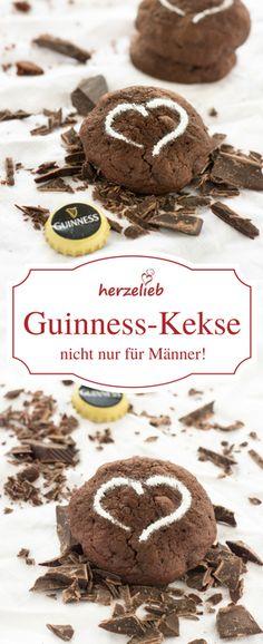 Rezept für Schokoladenkekse mit Guinness. Backen ganz leicht gemacht.  Ein Rezept von herzelieb