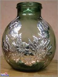 Resultado de imagen de botellas de cristal decoradas con estaño