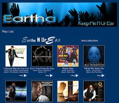 Eartha Foster is well-known Nashville TN. radio personality. Eartha uses her sultry smooth sounding voice to entertain Nashville premier listening audience to the smooth sounds of contemporary music. http://www.earatwork.com/work/play-list  ***Design by http://www.fineartandgraphicsdesign.com
