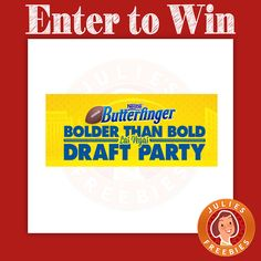 Butterfinger Bolder Than Bold Las Vegas Draft Party Sweepstakes