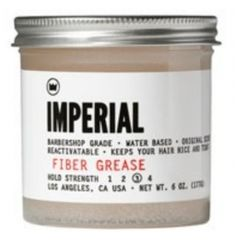 Imperial Fiber Grease Our water-based FIBER GREASE is a highly pliable texturizing product full of extra-long fibers that are more exaggerated than the average fiber grease. The result is a versatile medium hold product with custom texture fibers and a slight sheen.