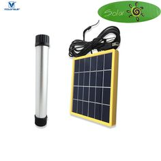 VICTORSTAR @ Solar 4 in 1 LED Rechargeable Camping Light + Solar Panel / Tube Light / Flashlight / Table Light / Power Bank / 6 Lighting Modes and SOS Flash Lighting / 3W 225mm -- Awesome products selected by Anna Churchill