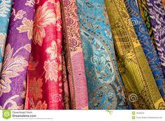 Thai Sarong Fabric | Assortment of traditional colorful Sarong Batik fabric.