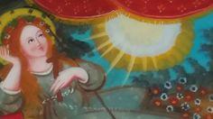 Pittura su Vetro Santa Rosalia distesa (particolare) cm 40x30 (Repro) Per maggiori info contattatemi! pincisanti@hotmail.com