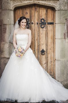 Beautiful bride at Caer Llan...www.caerllan.co.uk/weddings Beautiful Bride, One Shoulder Wedding Dress, Wedding Photos, Wedding Photography, Weddings, Wedding Dresses, Fashion, Falling Down, Marriage Pictures