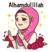 Sticker set with a lot of girls' hyperbole expressions Cute Bunny Cartoon, Cute Cartoon Pictures, Cute Love Cartoons, Islamic Images, Islamic Love Quotes, Islamic Inspirational Quotes, Eid Images, Feeling Pictures, Moslem