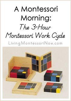 A Montessori Morning - The 3-Hour Montessori Work Cycle #Montessori #preschool