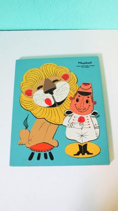 The Lion Tamer  Adorable Vintage Playskool 18 Piece by AdoredAnew