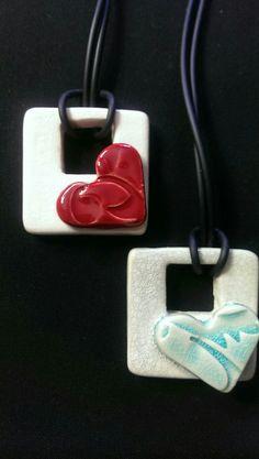 Colgant corazón de cerámica