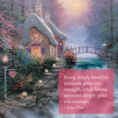 """Valentine's Day Inspiration. """"Share the Light"""" """"Sweetheart Cottage II"""" – Thomas…"""