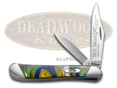 CASE XX Slant Series Sapphire Glow Corelon Peanut 1/2500 Stainless Pocket Knife Knives