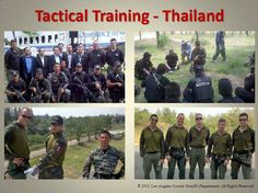 Tactical Training in Thailand