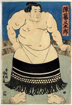 陣幕久五郎 大阪相撲 歌川国貞画 #Osaka #Japan #Sports Osaka Sumo