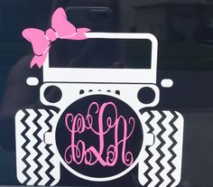 A personal favorite from my Etsy shop https://www.etsy.com/listing/543970957/jeep-car-decal