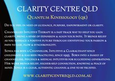 Clarity Centre QLD - Quantum Kinesiology & Channelled Intuitive Therapy Central Nervous System, Hypnotherapy, Subconscious Mind, Do You Feel, Intuition, Reiki, Clarity, Centre, Healing