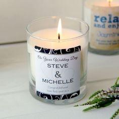 Personalised wedding day scented candle #wedding #candle #thepersonalisedgiftshop £14.99