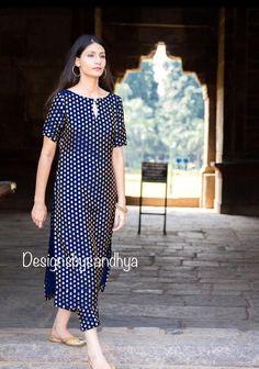 Blue brocade salwar kameez custom made dress punjabi suits indian womens pants shalwar dresses Simple Kurta Designs, Stylish Dress Designs, Designs For Dresses, Kurti Neck Designs, Fancy Blouse Designs, Kurta Designs Women, Indian Gowns Dresses, Indian Fashion Dresses, Indian Designer Outfits