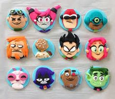 Teen titans go fondant cake toppers 5th Birthday Party Ideas, 10th Birthday Parties, Party Themes, November Birthday, Baby Boy Birthday, Teen Titans Go, Movie Party, Robin, Cookies