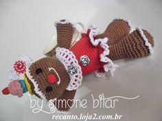 <3 Bom diaaaaaa \o/ A bonequinha chegou... cheia de doçura! Gingerbread Menina Amigurumi.  Na Lojinha tem: http://recanto.loja2.com.br/  E no Bloguito também: http://recantodasborboletas-simoninha.blogspot.com.br/