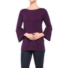 Cable & Gauge Boat Neck Tunic Shirt (For Women) - Save 66%