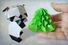 A Cute Fir Tree for Every Origami Panda | by Katrin Ray