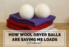 How Wool Dryer Balls Are Saving Me Loads (pun intended) #natural #saving #laundry #dryerballs #igruv