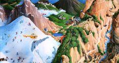 """Illustratie uit """"De gele ballon"""", Charlotte Dematons, Lemniscaat, 2003"""