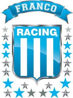 Kit De Vinilo Escudo Racing Con Tu Nombre Personalizado