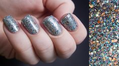 Jennifer glitter topcoat by Shimmer (Indie nail polish brand)