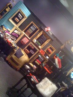 """my first ootra store....at 900 north michigan...you can see our """"thermal"""" velvet chair ..and ottoman...we love.."""