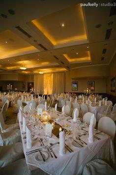 Wedding reception room at Trim Castle Hotel. A unique Irish Wedding venue. Wedding photography by PK Wedding Reception, Wedding Venues, Irish Wedding, Spring Weddings, Photography Services, High Quality Images, Castle, Wedding Photography, Table Decorations