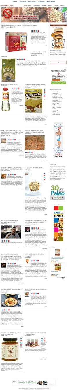 GLUTEN-FREE and Celiac news, recipes, products and videos | Ahead-Hosting.com
