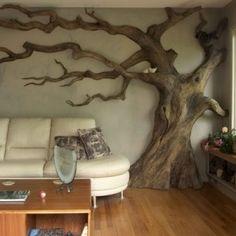 A természet erejével: fa a lakásban! 14 extravagáns, ötletes dekoráció