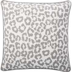 Spice up your sofa, chair or bed's look with this exciting Andrew Charles Cheetah Print Throw Pillow. This versatile pillow is cover in 100-percent cotton with a cheetah print in ivory and grey, then