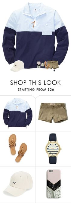 """i want a pullover like this // rtd"" by madelinelurene ❤ liked on Polyvore featuring Southern Proper, Hollister Co., Tory Burch, Kate Spade, Vineyard Vines and Harper & Blake"