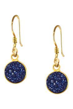 Charlene K 14K Gold Vermeil Druzy Dangle Earrings