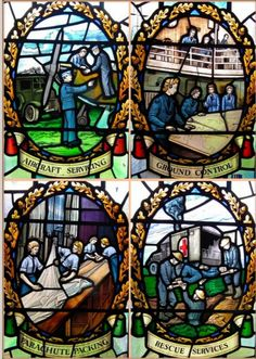 George's Chapel of Remembrance at the former fighter station RAF, Biggin Hill, London Borough of Bromley, GB Stained Glass Church, Stained Glass Panels, Stained Glass Art, The Blitz, Battle Of Britain, Arts And Crafts Movement, Window Design, Source Of Inspiration, Glass Design