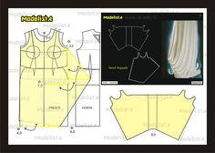 Modelagem do drapeado lateral do vestido. Fonte: https://www.facebook.com/photo.php?fbid=571071312928778&set=a.426468314055746.87238.422942631074981&type=1&theater