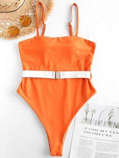 6ecc94b7086 Belt High Cut Bandeau Swimsuit. Cute BikinisBandeau SwimsuitBra StylesHigh  CutSwimwear FashionString BikinisSpandexBeltOne Piece